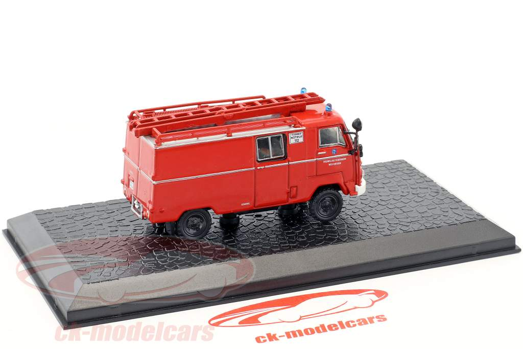 Magirus Faun F 24 DL/320F LF 8 fire Department red 1:72 Altaya