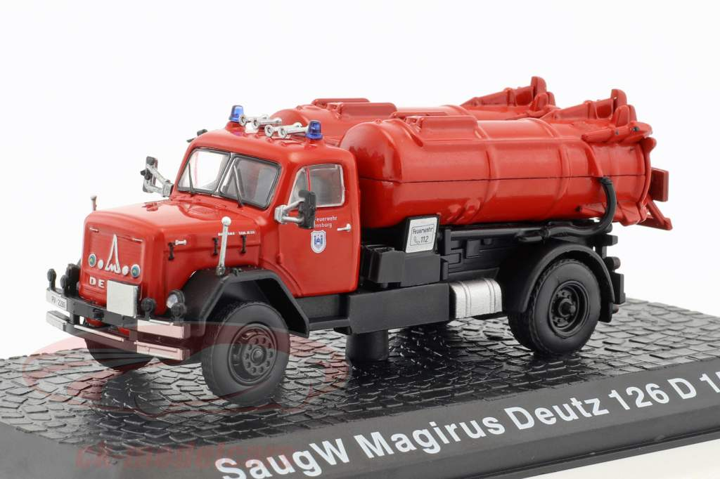 Magirus Deutz 126 D15 AK SaugW Feuerwehr Regensburg rot 1:72 Altaya