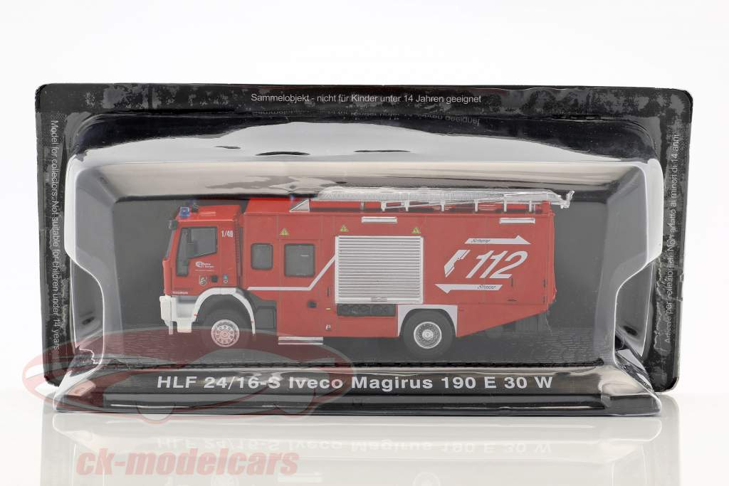 Iveco Magirus 190 E 30 W HLF 24/16-S fire Department St.Georgen red 1:72 Altaya