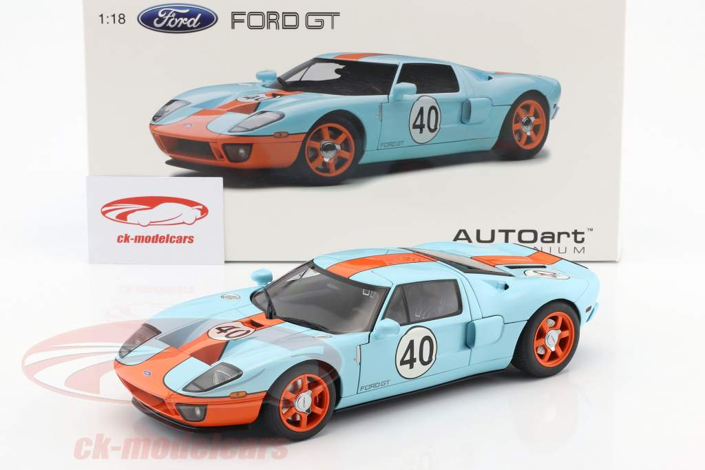 Details About Ford Gt  Gulf Livery Year   Autoart