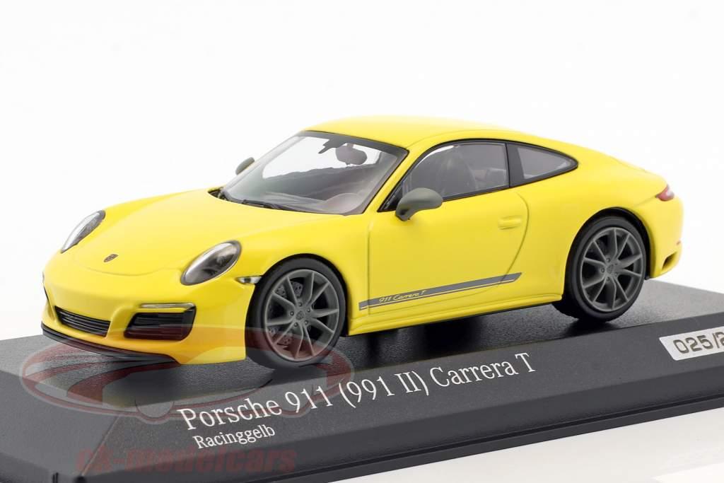 II ca04319001 PORSCHE 911 991 Carrera T-racinggelb-Minichamps 1:43