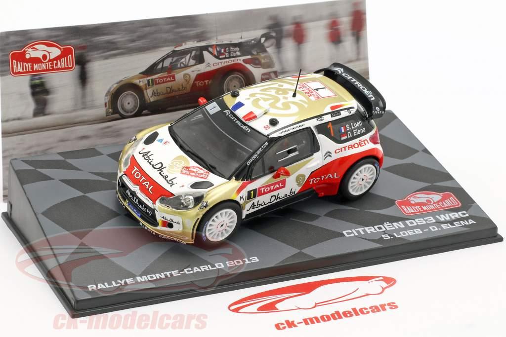 Elena 1:43 Altaya Citroen ds3 wrc #1 winner Rally de Monte Carlo 2013 loeb