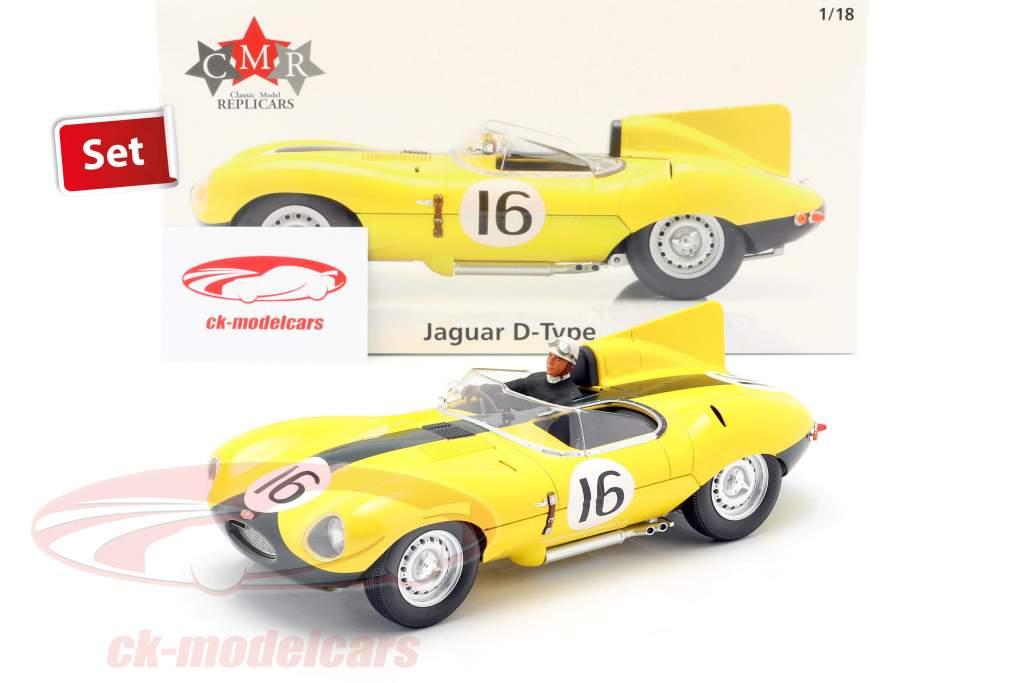 JAGUAR TYPE D CMR  CMR145 LE MANS 1957 LUCAS MARY 1//18