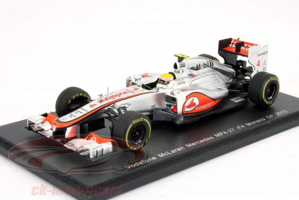 ck modelcars s3045 l hamilton mclaren mercedes mp4 27 gp de monaco de formule 1 2012 1 43. Black Bedroom Furniture Sets. Home Design Ideas