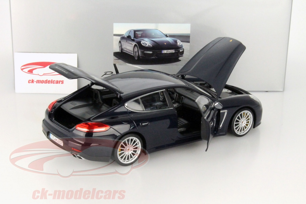 ck modelcars wap 021 012 0e porsche panamera turbo s dunkelblau metallic 1 18 minichamps. Black Bedroom Furniture Sets. Home Design Ideas