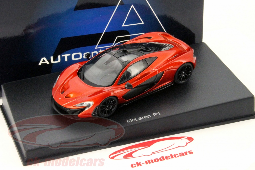 autoart 1:43 mclaren p1 baujahr 2013 volcano orange 56012 modellauto