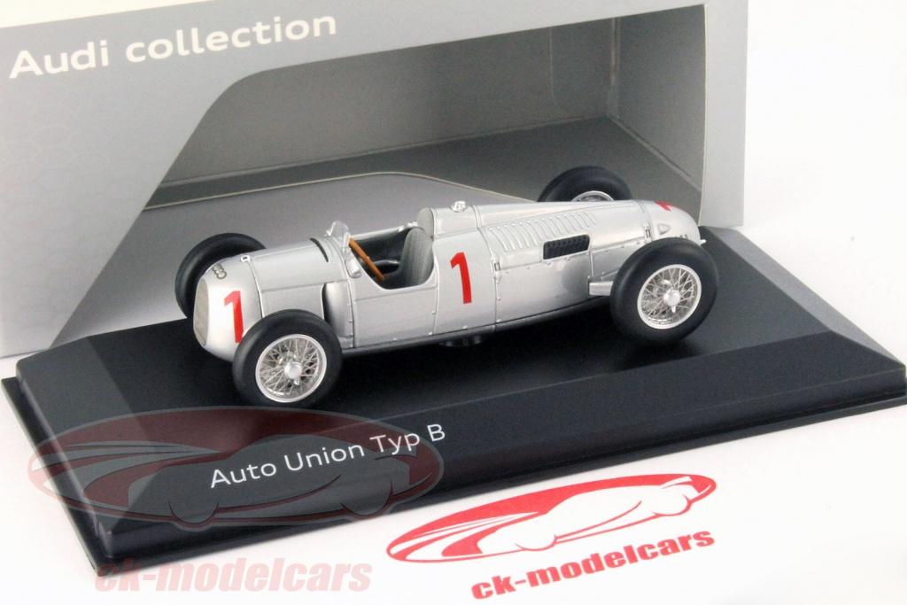 ck modelcars 5031300313 auto union typ b 1 銀 1 43 minichamps
