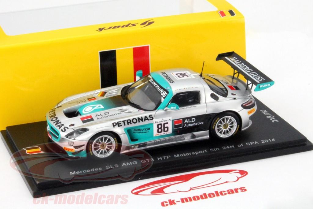 Mercedes Benz SLS AMG GT3 #86 5 24h Spa 2014 HTP Motorsport 1:43 Spark