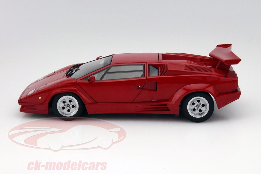 Ck Modelcars 74534 Lamborghini Countach 25th Anniversary Edition 1988 Red 1 18 Autoart Ean