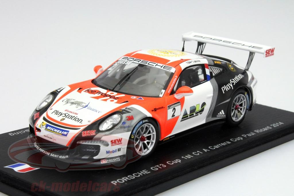 Porsche 911 991 gt3 Cup-Jousse-c1 a pccf paul ricard 2014-1:43 Spark sf082