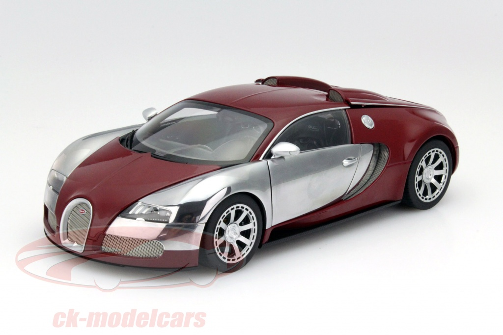ck modelcars 70957 bugatti veyron eb 16 4 year 2009 dark red chrome 1 18 autoart ean. Black Bedroom Furniture Sets. Home Design Ideas