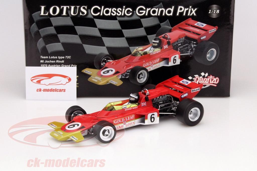 World Champion Rindt 1970 1:18 Quartzo Lotus 72C Winner GP Austria