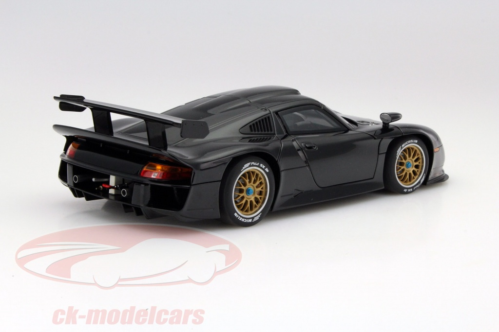 ck modelcars 89770 porsche 911 gt1 plain body version baujahr 1997 schwarz 1 18 autoart ean. Black Bedroom Furniture Sets. Home Design Ideas