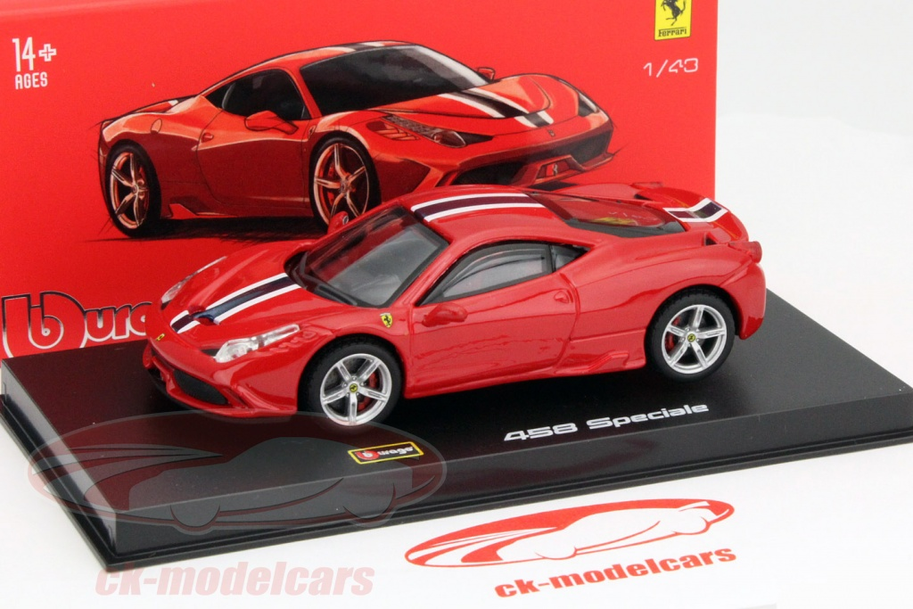 ck modelcars 36901 ferrari 458 speciale red 1 43 bburago signature ean 4893993369010. Black Bedroom Furniture Sets. Home Design Ideas