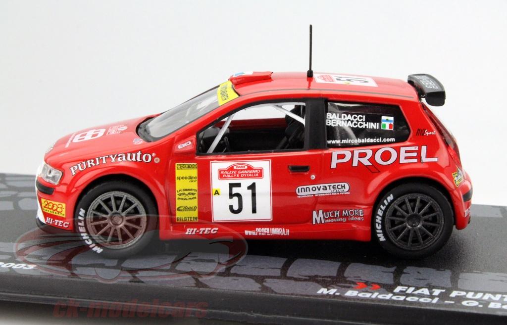 Ck Modelcars Mag Kd041 Fiat Punto S1600 51 Rally Sanremo 2003