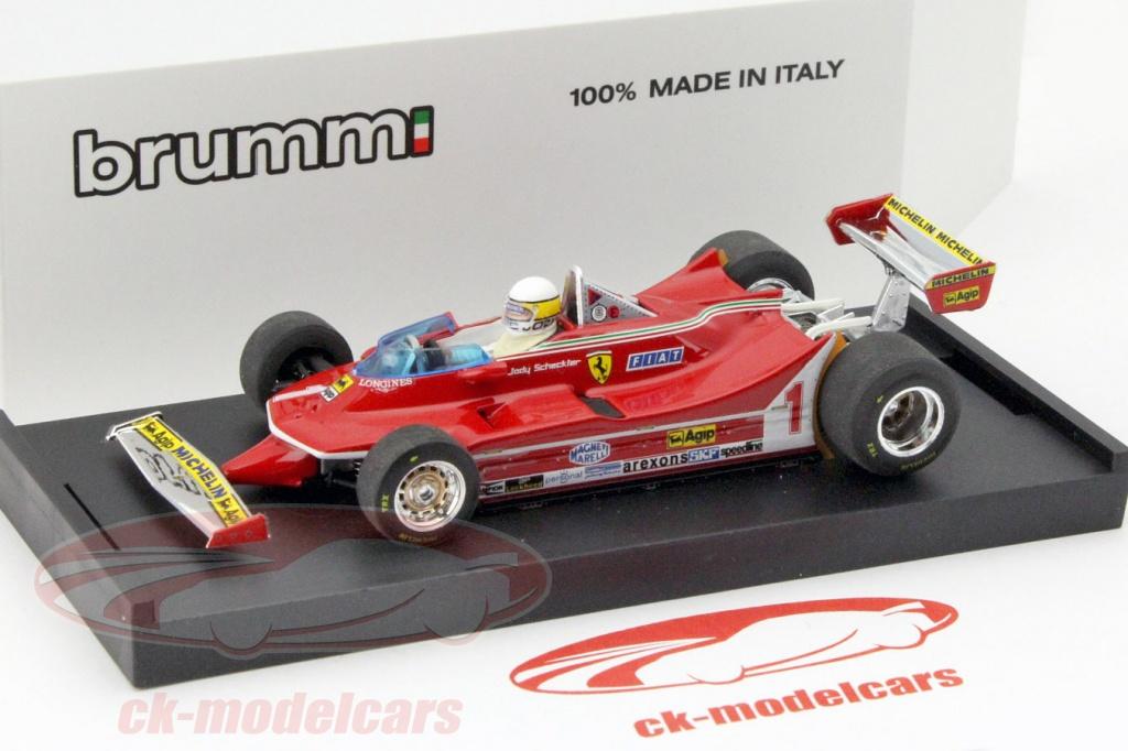Ferrari 312 T5 J Scheckter 1980 #1 Argentina GP Driver 1:43 Model BRUMM