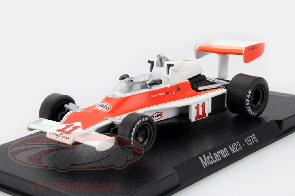 ck modelcars mag gl14 james hunt mclaren m23 11 champion du monde formule 1 1976 1 43 altaya. Black Bedroom Furniture Sets. Home Design Ideas
