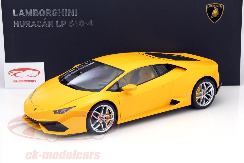 Autoart 1 12 Lamborghini Huracan Lp 610 4 Year 2014 Yellow 12097