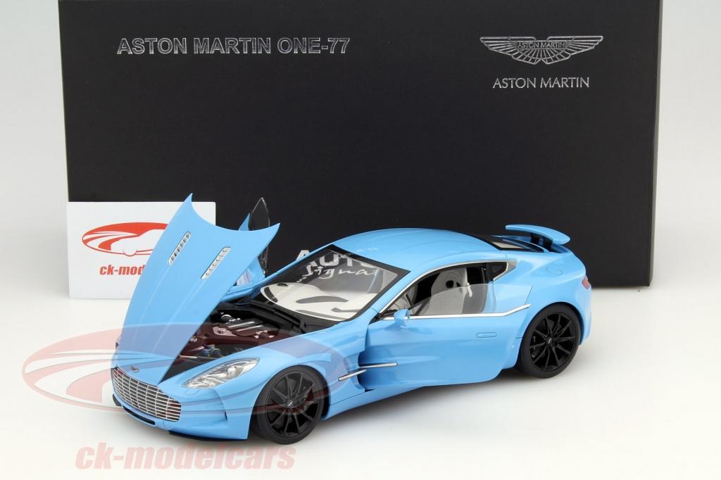 aston martin one 77 blue. aston martin one77 year 2009 tiffany blue 118 autoart one 77