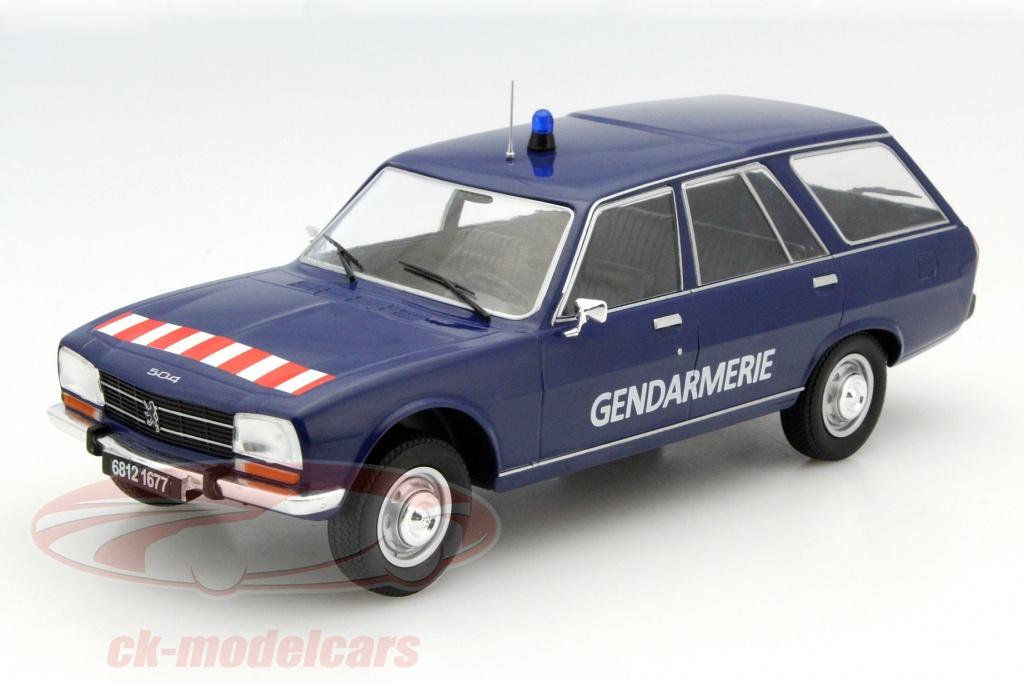 CK-Modelcars - MCG18036: Peugeot 504 Break Gendarmerie blue 1:18 ...