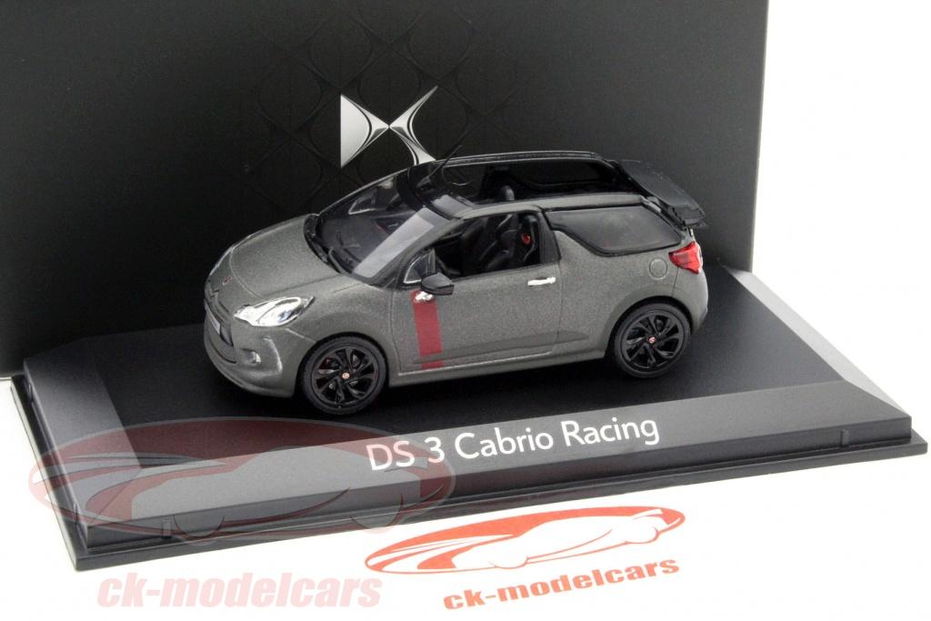 ck modelcars amco19486 citroen ds3 cabriolet racing anno 2014 stuoia grigio nero 1 43 norev. Black Bedroom Furniture Sets. Home Design Ideas