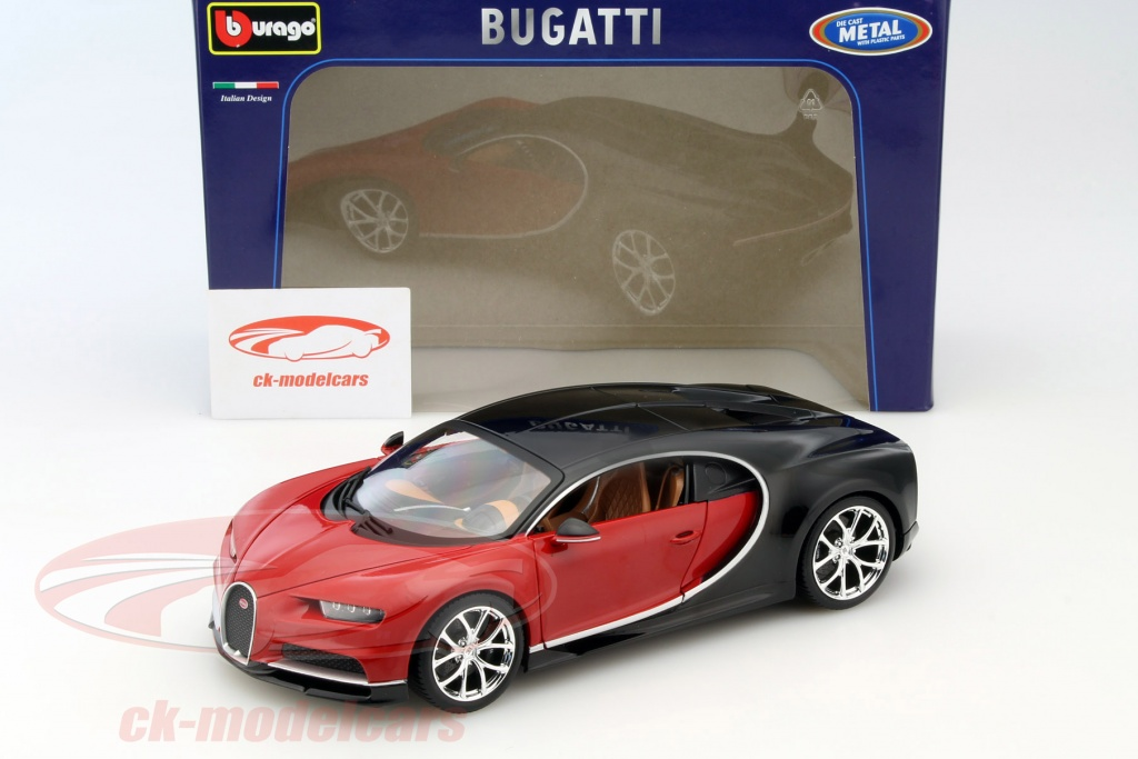 ck modelcars 15611040r 18 11040 bugatti chiron year 2016 red black 1 18 bburago ean. Black Bedroom Furniture Sets. Home Design Ideas