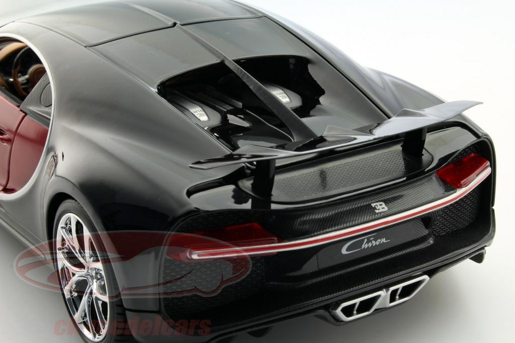 ck modelcars 15611040r 18 11040 bugatti chiron year 2016 red black 1 18 bburago ean. Black Bedroom Furniture Sets. Home Design Ideas