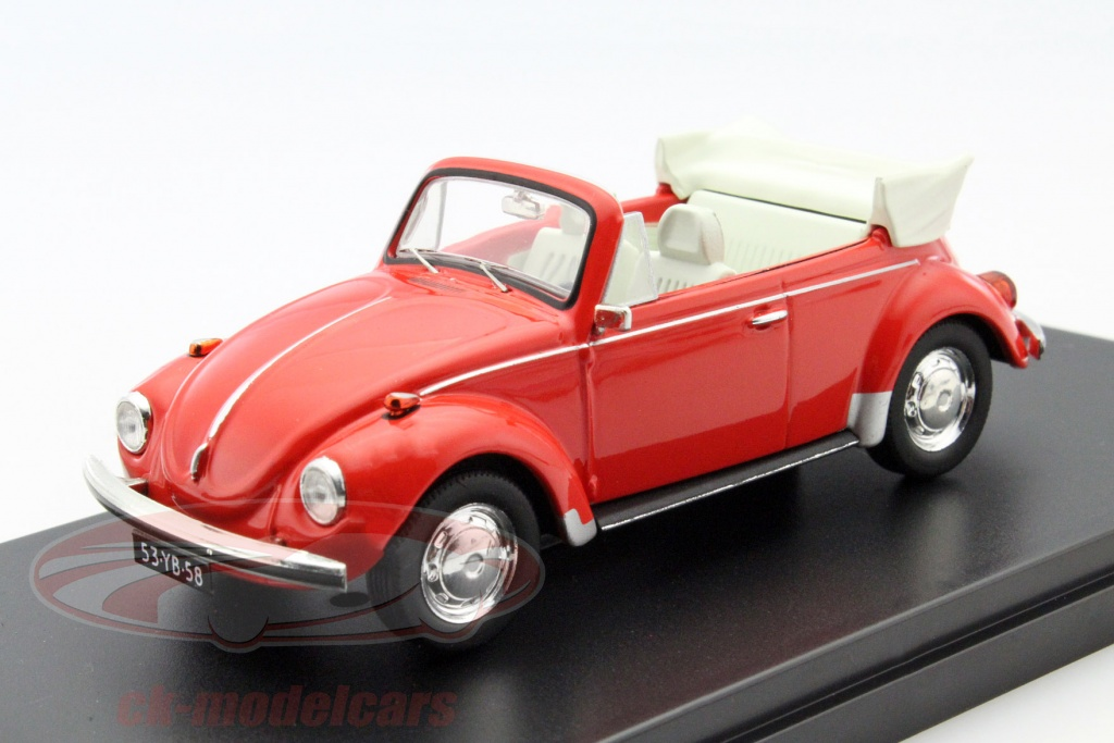 ck modelcars prd530 volkswagen vw k fer cabriolet year 1973 red 1 43 premiumx ean 9580015704830. Black Bedroom Furniture Sets. Home Design Ideas