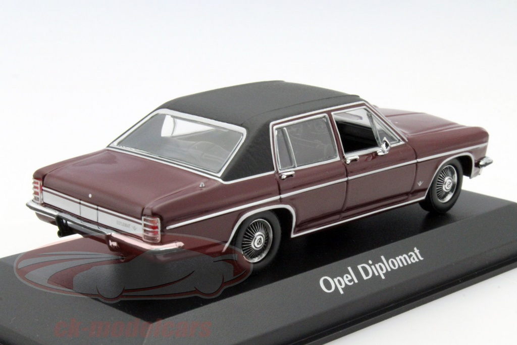 ck modelcars 940046071 opel diplomat year 1969 dark red. Black Bedroom Furniture Sets. Home Design Ideas