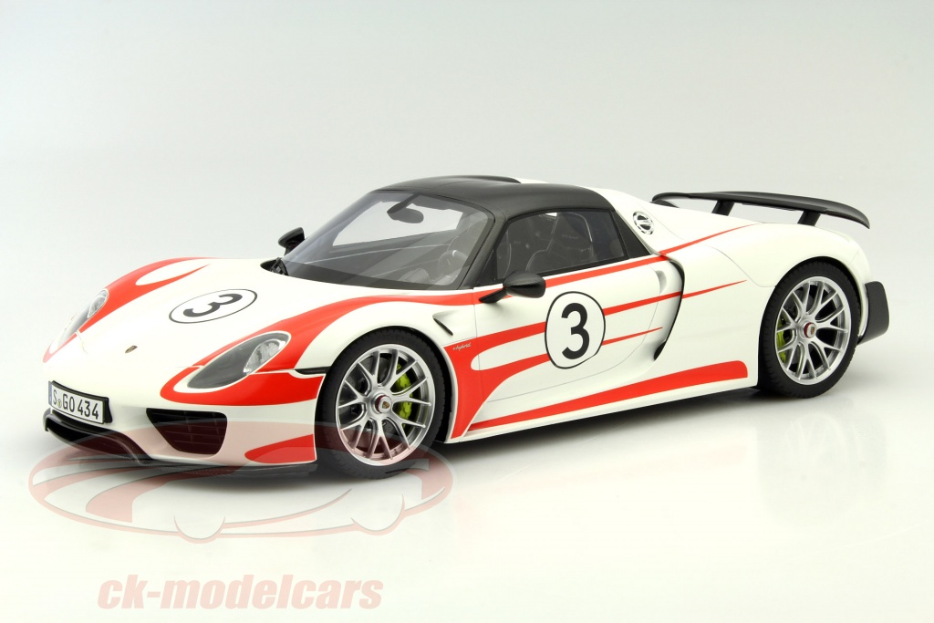 porsche 918 spyder white and red. porsche 918 spyder 3 weissach package white red 112 gtspirit and