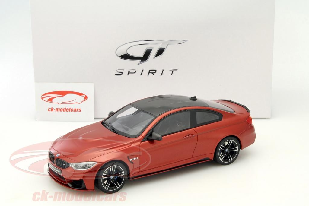 gt-spirit 1:18 bmw m4 m-performance edition orange zm055 modellauto
