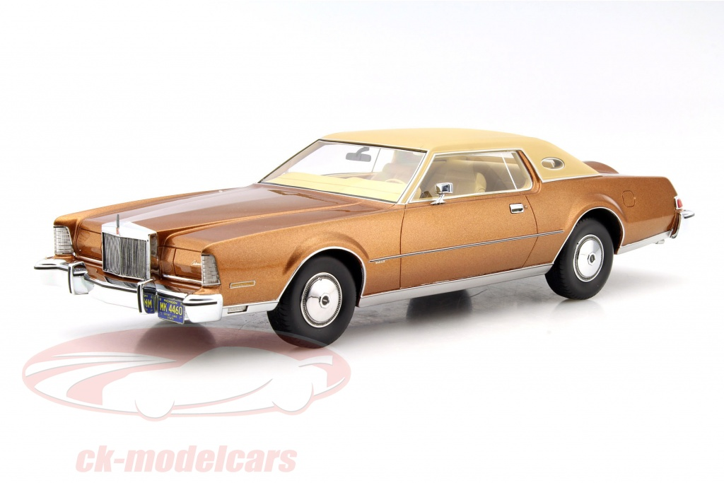 ck modelcars bos244 lincoln continental mark iv luxus construction year 1974 brown metallic. Black Bedroom Furniture Sets. Home Design Ideas