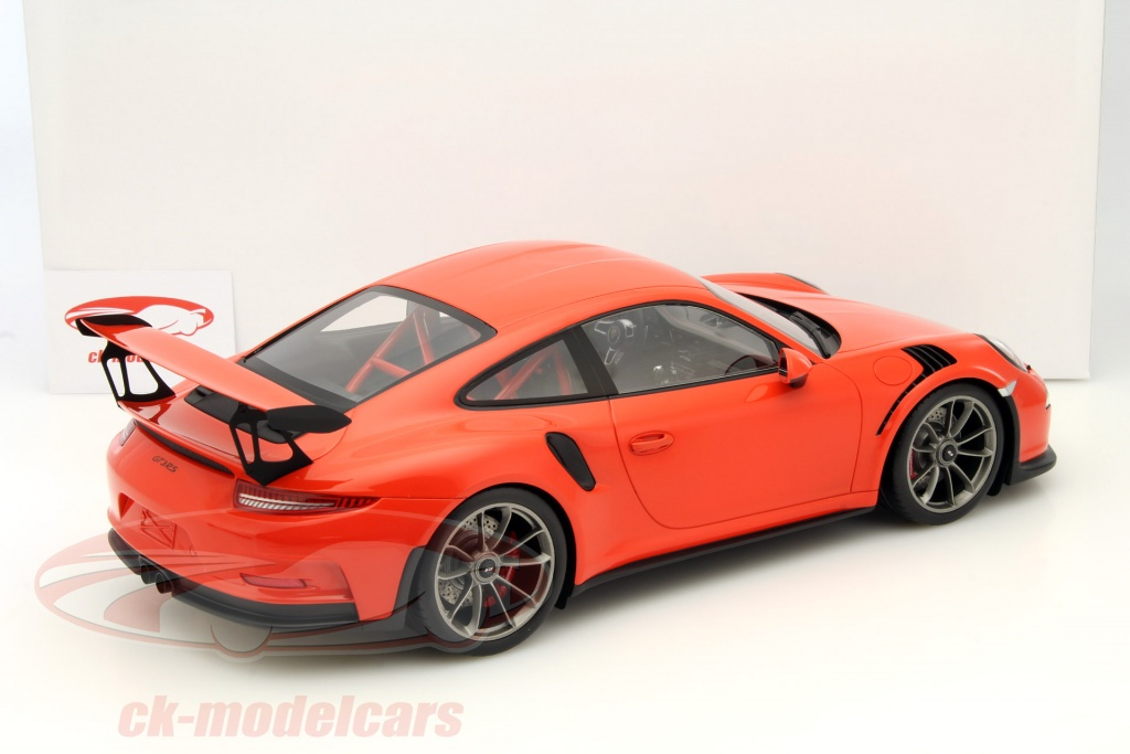 ck modelcars wax02200002 porsche 911 991 gt3 rs lava orange with showcase 1 12 spark. Black Bedroom Furniture Sets. Home Design Ideas