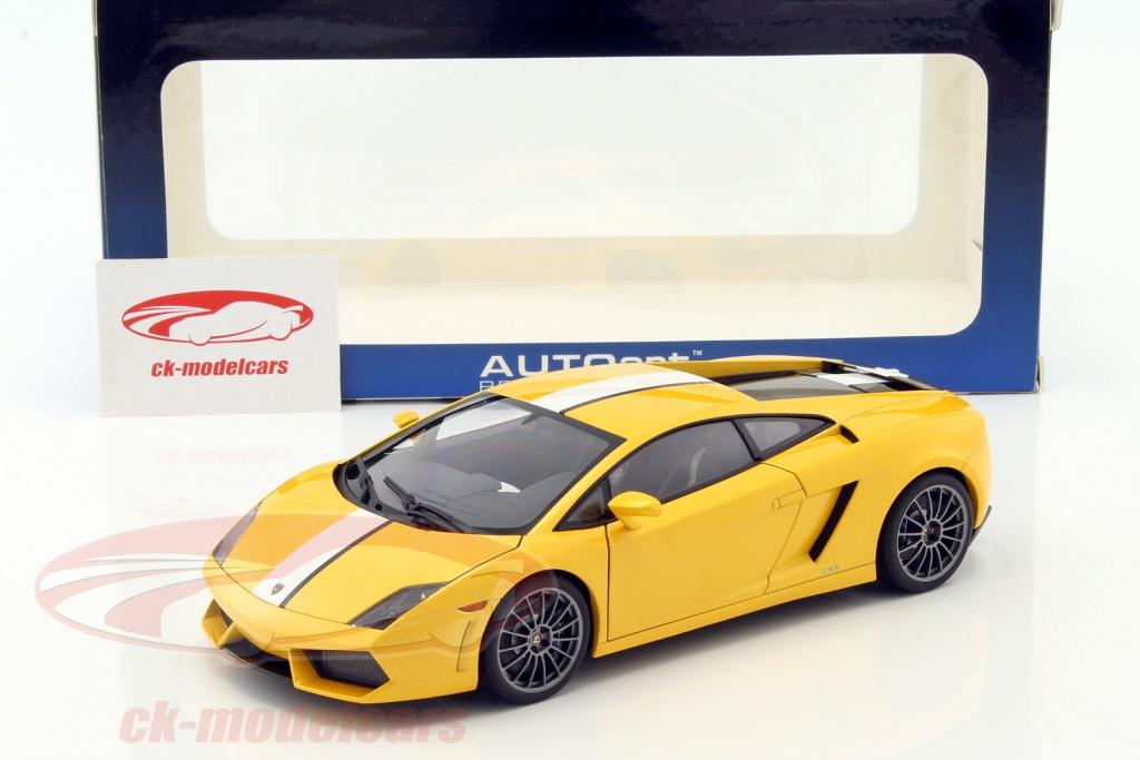 Attractive Lamborghini Gallardo LP550 2 Valentino Balboni Edition Yellow Metallic 1:18  AUTOart