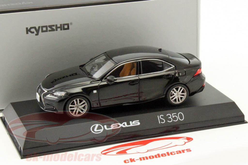 Lexus IS 350 F Sport Preto 1:43 Kyosho
