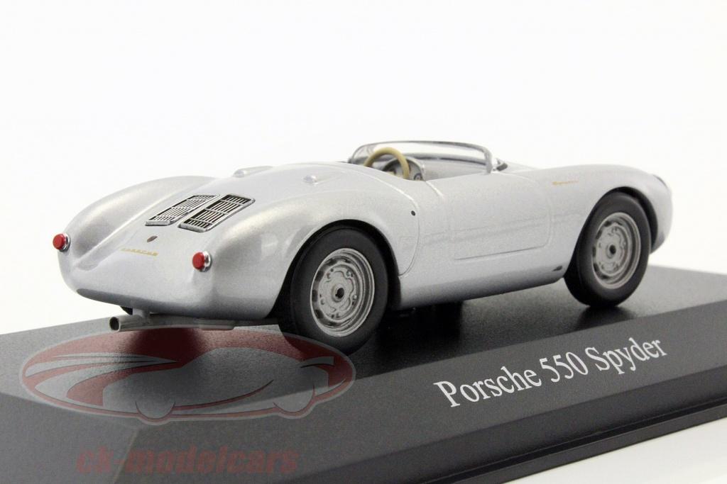 CK-Modelcars - 940066030: Porsche 550 Spyder year 1955 silver ... on porsche 993 c2s, porsche 911 gt1, porsche speedster outlaw, porsche rs60, porsche 991 at night, porsche coupe, porsche cayman, porsche james dean died in, porsche model years, porsche car audio shows, porsche 356c cabriolet, porsche 914-6, porsche 80 s,