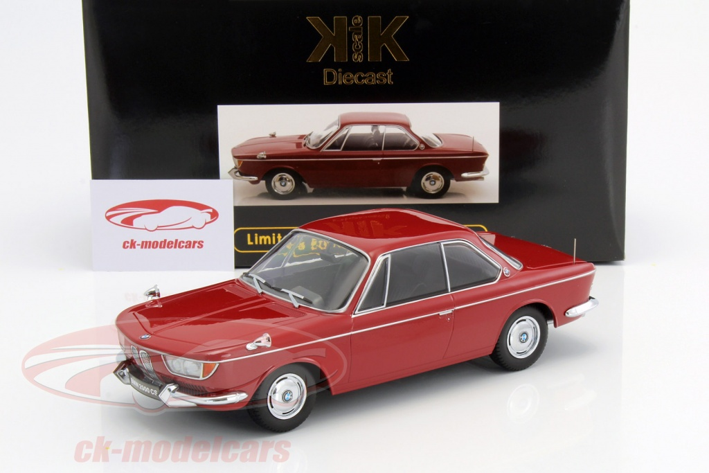 CK-Modelcars - KKDC180122: BMW 2000 CS coupe year 1965 dark red 1:18 ...
