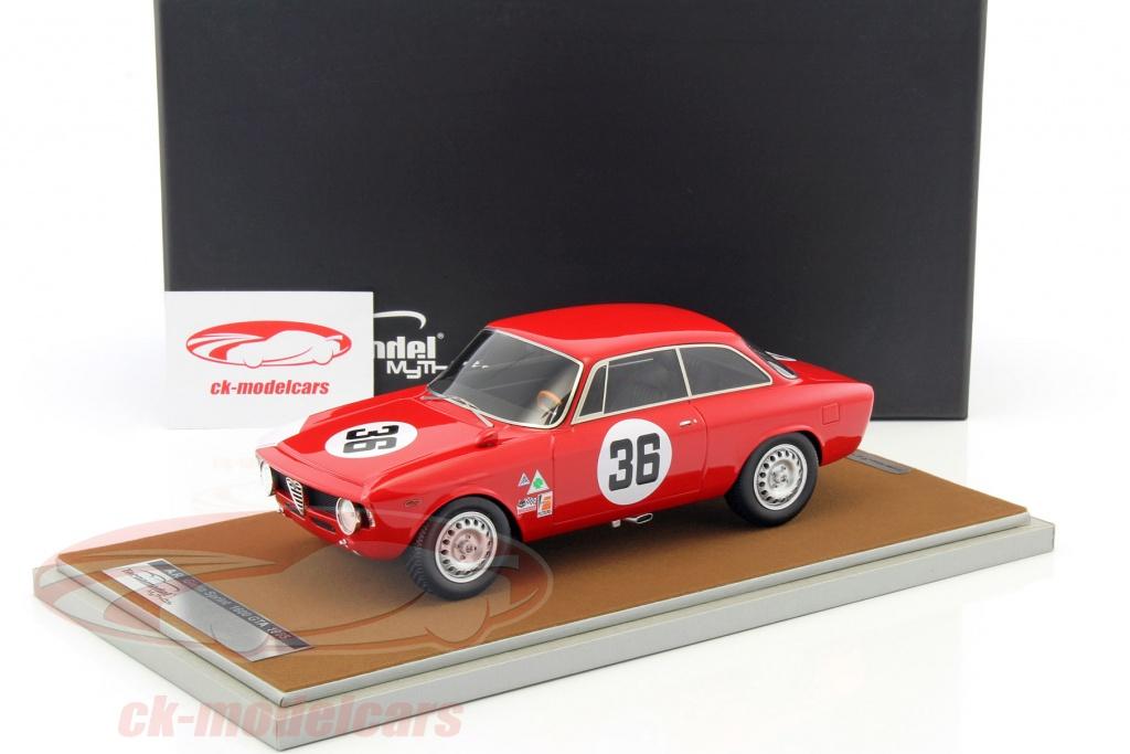 Alfa Romeo Giulia 1600 Sprint GTA #36 4h Sebring 1966 Rindt 1:18 Tecnomodel
