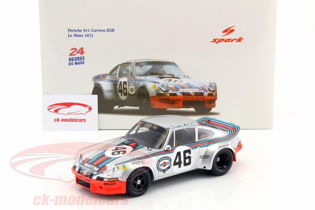 Ck modelcars 18s060 porsche 911 carrera rsr 46 martini racing 4th 24h lemans 1973 1 18 spark - Herbergt s werelds spiegelt ...