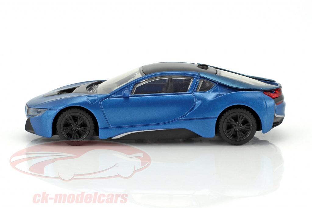 Ck Modelcars 58400b Bmw I8 Bouwjaar 2015 Blauw Metalen Zwart 1