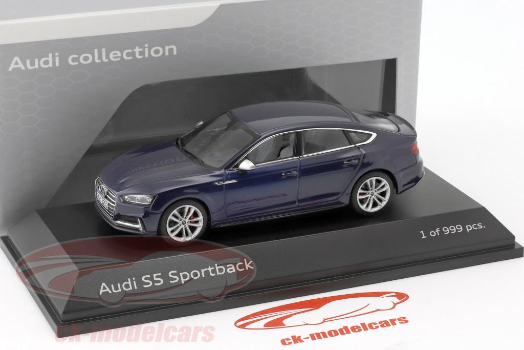 Audi S5 Sportback Year 2016 Navarra Blue 1 43 Paragon Models
