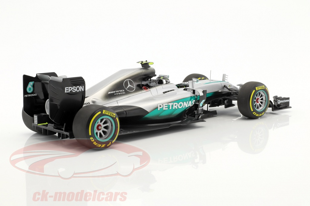 ck modelcars 110160706 nico rosberg mercedes f1 w07 hybrid 6 abu dhabi gp weltmeister formel. Black Bedroom Furniture Sets. Home Design Ideas