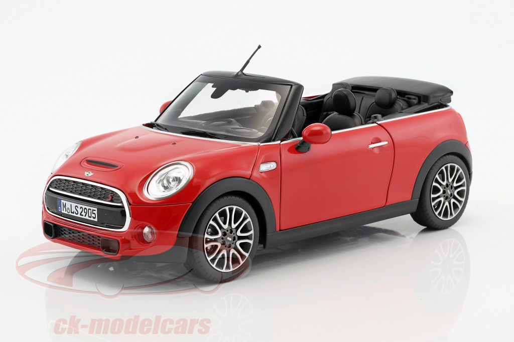 ck modelcars 80432405583 mini cooper s cabriolet f57 baujahr 2016 rot 1 18 norev ean. Black Bedroom Furniture Sets. Home Design Ideas