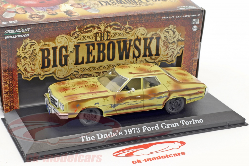 Greenlight 1:43 The Dude's Ford Gran Torino year 1973 Movie