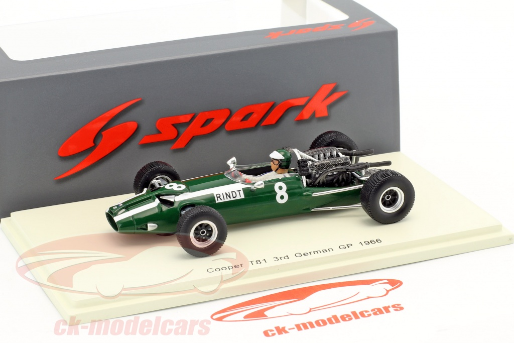 SPARK COOPER T81 #8 3rd German GP 1966 Jochen Rindt S5291 1//43