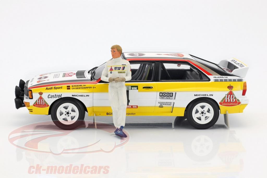 CKModelcars AE Walter Röhrl Audi Quattro Figure Rally - Walter audi