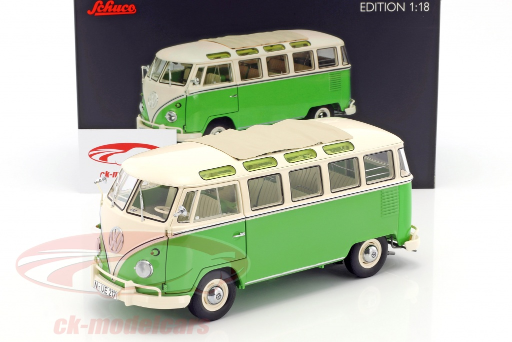 Ck modelcars 450028600 volkswagen vw t1 samba bus year 1959 1963 volkswagen vw t1 samba bus year 1959 1963 green white 118 schuco thecheapjerseys Choice Image