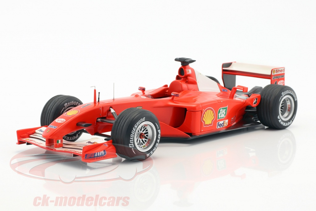 ck modelcars n2075 schumacher ferrari f2001champion du monde formule 1 2001 1 18 hw elite. Black Bedroom Furniture Sets. Home Design Ideas