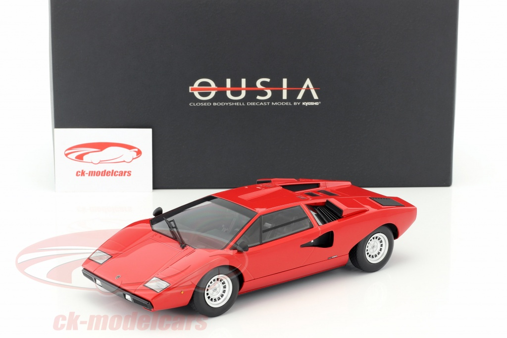 Kyosho 1 18 Lamborghini Countach Lp400 Year 1974 1978 Red C09531r