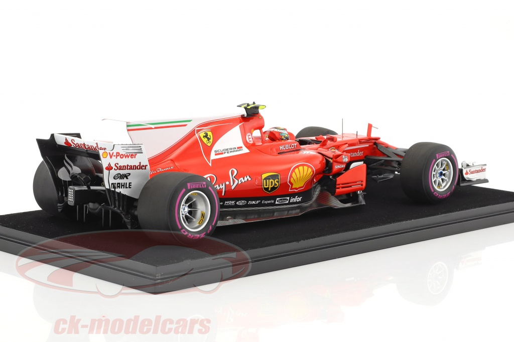 ck modelcars ls18f108 kimi r ikk nen ferrari sf70h 7 4 australie gp formule 1 2017 avec. Black Bedroom Furniture Sets. Home Design Ideas
